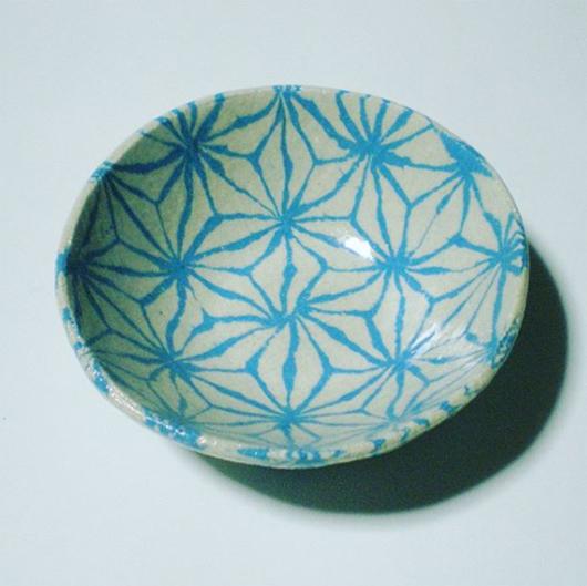 練り込み陶芸体験教室 麻の葉模様 草�桃江