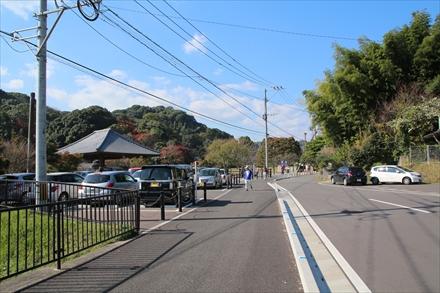 天拝山歴史自然公園駐車場