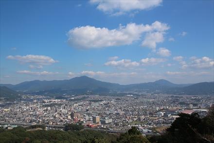 天拝山山頂からの景色(筑紫野市)