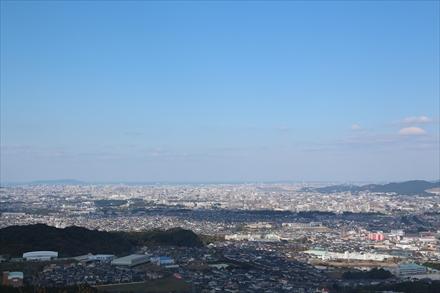 天拝山山頂からの景色(福岡市)