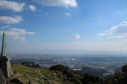 基山山頂からの景色(鳥栖)