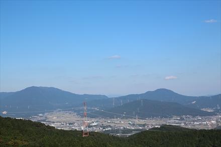 基山山頂からの景色(筑紫野)