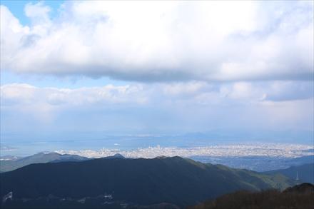井原山山頂からの福岡市方面の景色