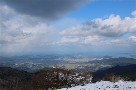 井原山山頂からの糸島方面の景色