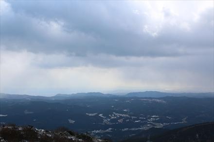 井原山山頂からの佐賀市方面の景色