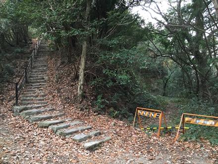 山頂への階段