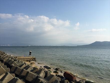 小岳麓からの海の景色