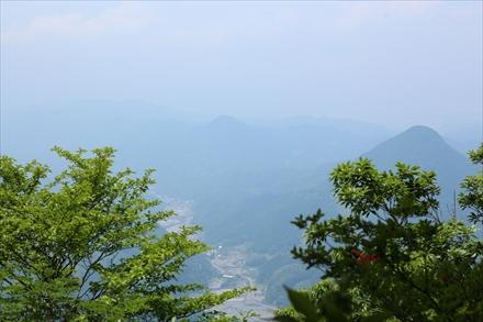 浅間山山頂からの景色