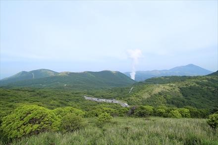 牧ノ戸峠第一展望台からの景色