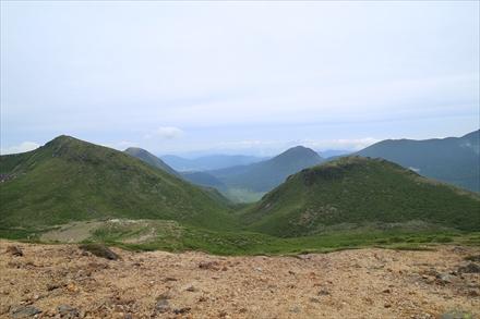 稲星山山頂からの景色