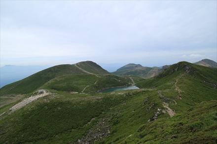 中岳山頂からの景色