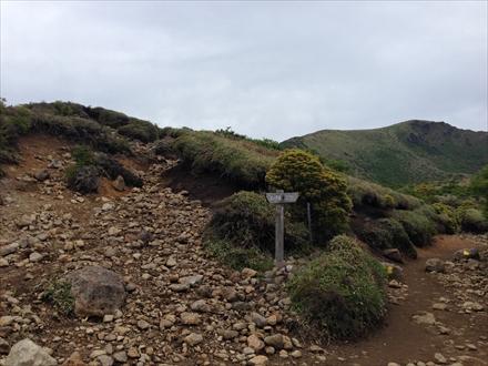 牧の戸峠への道との合流