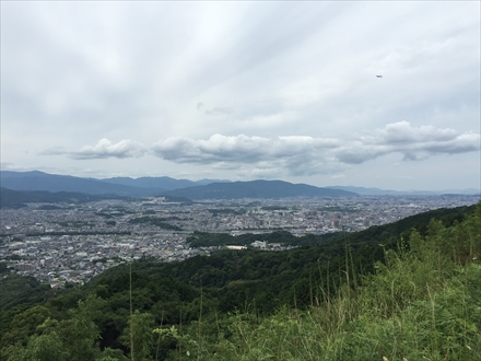 岩屋城跡からの福岡市方面の景色
