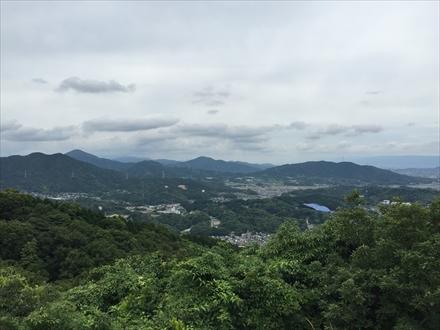 岩屋城跡からの太宰府方面の景色
