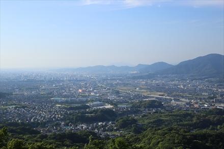天拝山山頂からの福岡市方面の景色