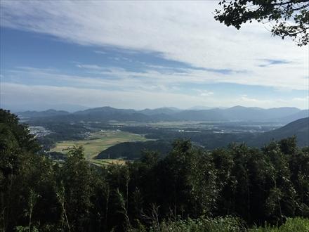新立山山頂からの景色(直方方面)