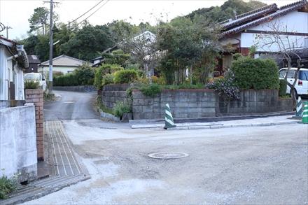 遠賀霊園手前の入り口