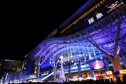 JR HAKATA CITY ライトアップ