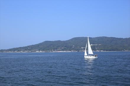 船の上からの景色