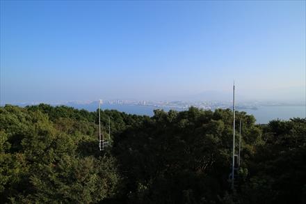展望台からの百道方面の景色
