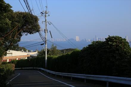 帰路途中から見た百道浜