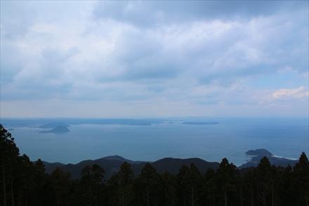 十坊山山頂からの景色(唐津方面)