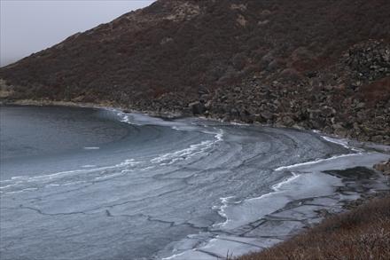 凍結しかけの御池