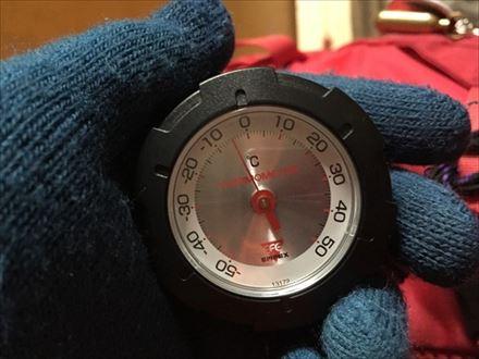 中岳避難小屋の気温