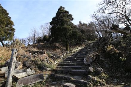 山頂下の階段
