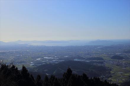 米ノ山展望台からの福岡市方面の景色
