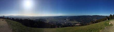 米ノ山展望台からの景色(パノラマ)