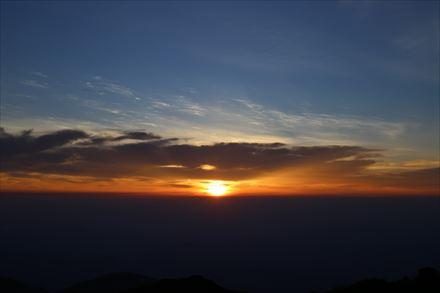 大船山からの朝焼け