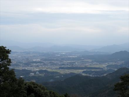 笠置山山頂からの景色