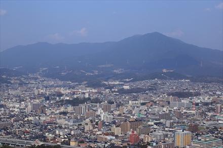 天拝山山頂からの景色