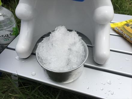 山頂でかき氷