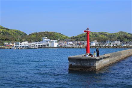 宗像大島の港