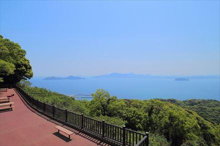 宗像大島の展望台からの眺め