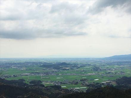 目配山山頂からの景色