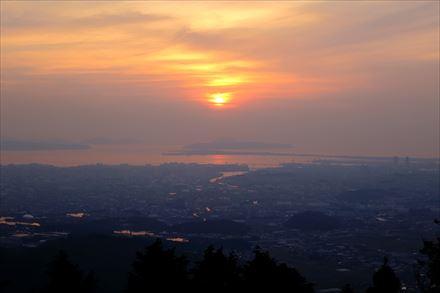 若杉楽園キャンプ場からの夕日