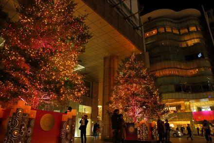 岩田屋本店のクリスマスツリー