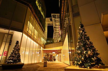 キャナルシティ・イーストビルのクリスマスツリー