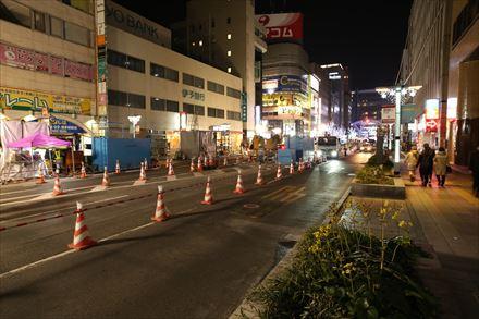 博多駅前の陥没地点
