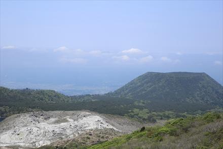 途中からの賽の河原方面の景色