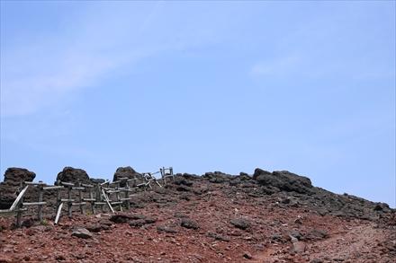 韓国岳山頂下
