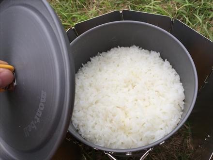 米が炊けた