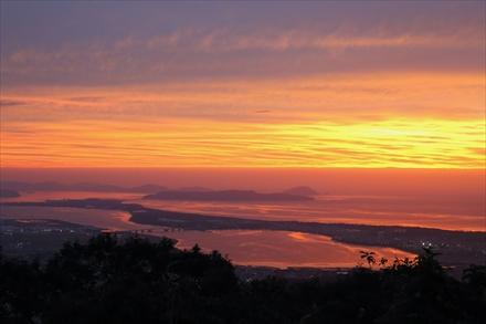 立花山からの夕焼け