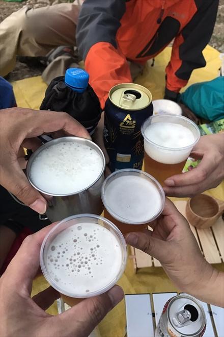 立花山で乾杯