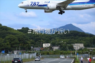 福岡空港の周りから見える飛行機