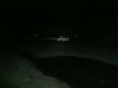 夜中の昭和の森駐車場