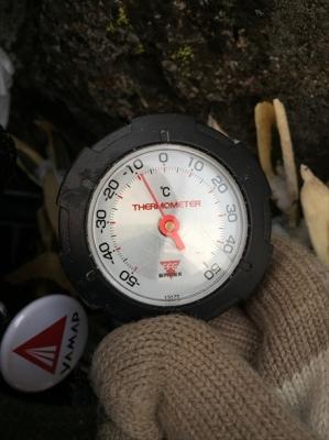 扇ヶ鼻山頂の気温